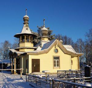 Храм в честь святителя Николая в дер. Малая Романовка на Щегловском кладбище.